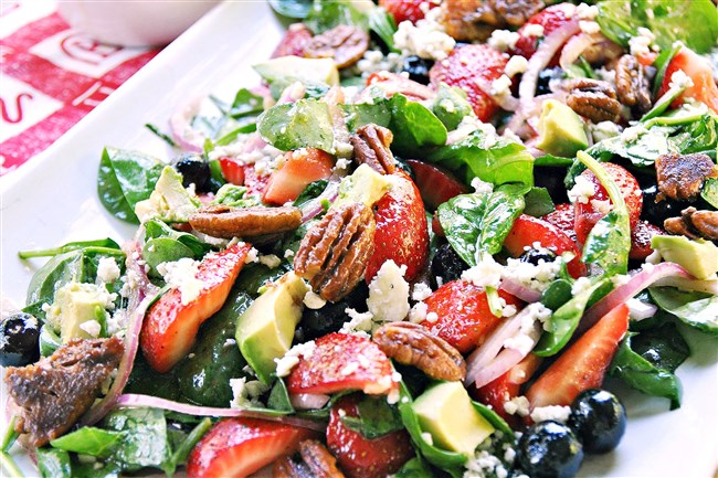 This easy strawberry salad won't last long at the table or a holiday picnic.