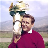 "Alan Young and ""Mister Ed"" in 1962."