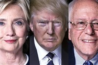 Hillary Clinton vs. Donald Trump vs. Bernie Sanders