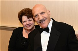 Bruno Sammartino, shown here with his wife, Carol, in May 2016.