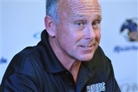 Coach Dave Brandt in the Riverhounds lost at Richmond Saturday.