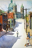 "Jean Thoburn's ""Church of the Immaculate Heart of Mary, Early Morning"" (1939)."