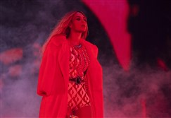 Beyonce at Commonwealth Stadium in Edmonton, Canada.