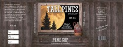 Label for one of the first flavored moonshines from Tall Pines Distillery in Somerset County.