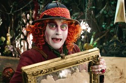 "Johnny Depp portrays the Hatter in a scene from ""Alice Through The Looking Glass."""
