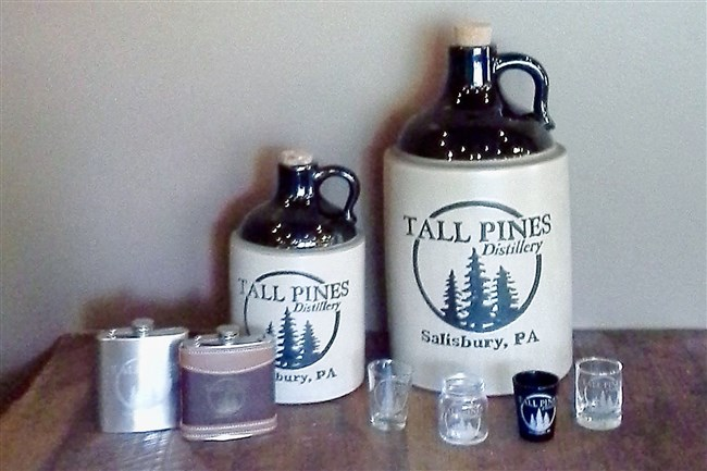 A label for one of the forthcoming moonshines from Tall Pines Distillery in Somerset.