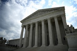 The U.S. Supreme Court is shown as the court meets to issue decisions Monday in Washington, D.C.