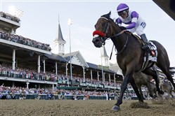 Mario Gutierrez rides Nyquist to victory May 7 during the 142nd running of the Kentucky Derby at Churchill Downs in Louisville, Ky.