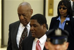 Bill Cosby arrives at the Montgomery County Courthouse for a preliminary hearing Tuesday in Norristown, Pa. Mr. Cosby is accused of drugging and molesting a woman at his home in 2004.