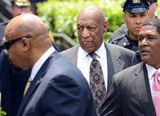 Actor and comedian Bill Cosby leaves a hearing in May at the Montgomery County Courthouse in Norristown, Pa.