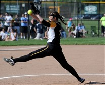 Madi Beining was a standout pitcher at North Allegheny who recently garnered ECAC Pitcher of the Week honors as a sophomore at Gannon.