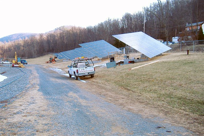 Broad Top Township in Bedford County now makes about half of the energy used by the water pumps at its wastewater operations through solar panels. The township installed the 69 kilowatt system in 2011.