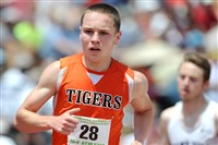 Dom Perretta of Beaver Falls made PIAA history Saturday by becoming the first athlete to win the 800- and 1600-meter runs for three consecutive years.