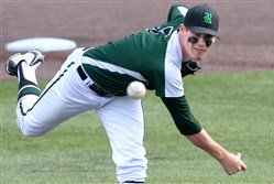 Mike Boswell, seen here pitching for Riverside as a senior last season, finished 6-2 his freshman season at Tiffin University in Ohio.