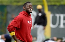 Antonio Brown and the Steelers will report to training camp in July.