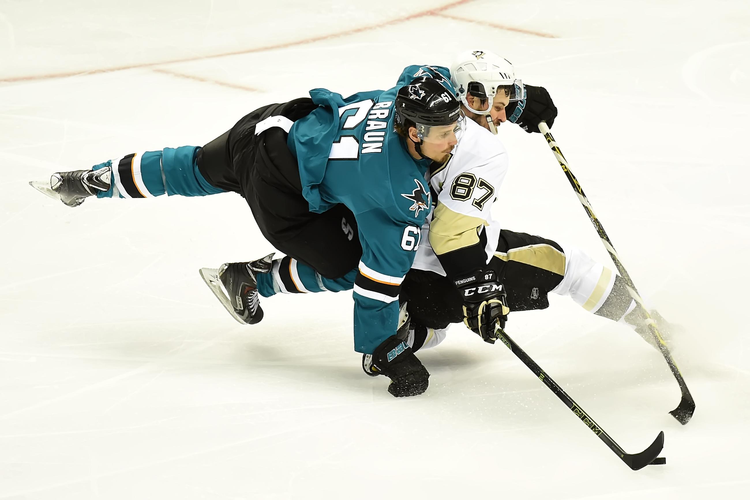 Sharks notebook: Braun, Vlasic enjoy facing Crosby