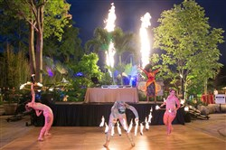 Safari Afrique performance featuring concept and creative design by LUXE creative and Reed dance at the Pittsburgh Zoo + PPG Aquarium Gala.