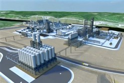 An artist's rendering of the Shell cracker plant.