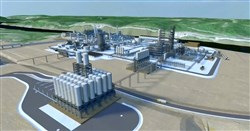 An artist's rendering of the cracker plant courtesy of Shell.