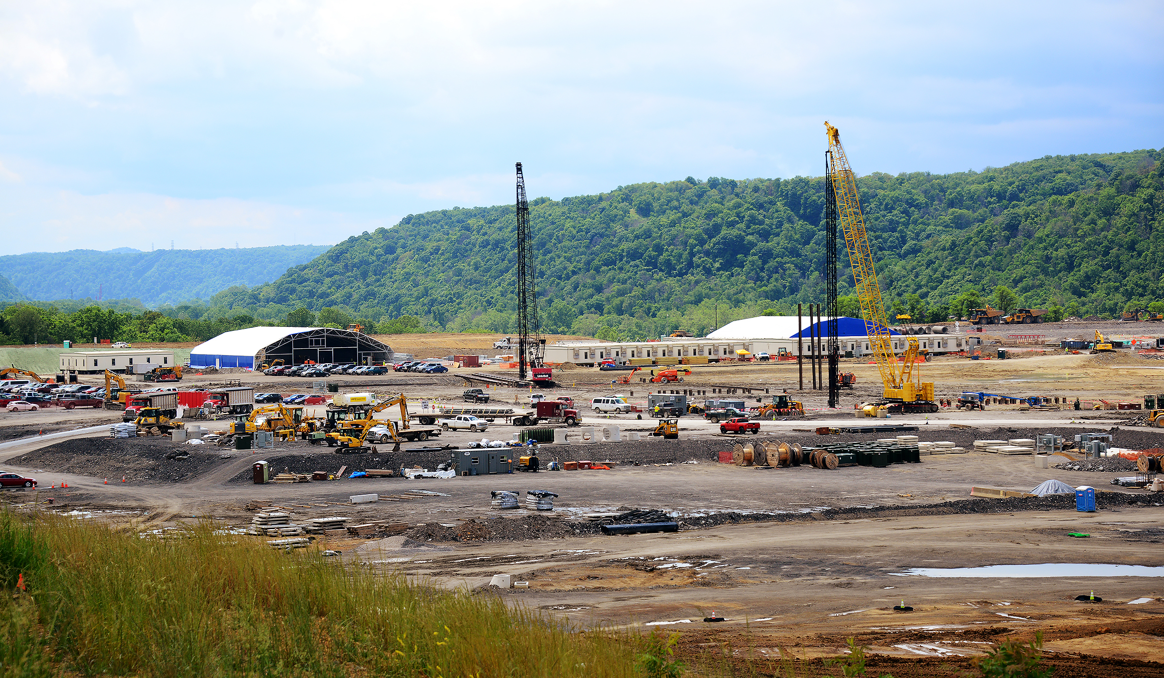 20160607lf-Shell01 Work is underway at the site of Shell Chemical's ethane cracker in Beaver County.