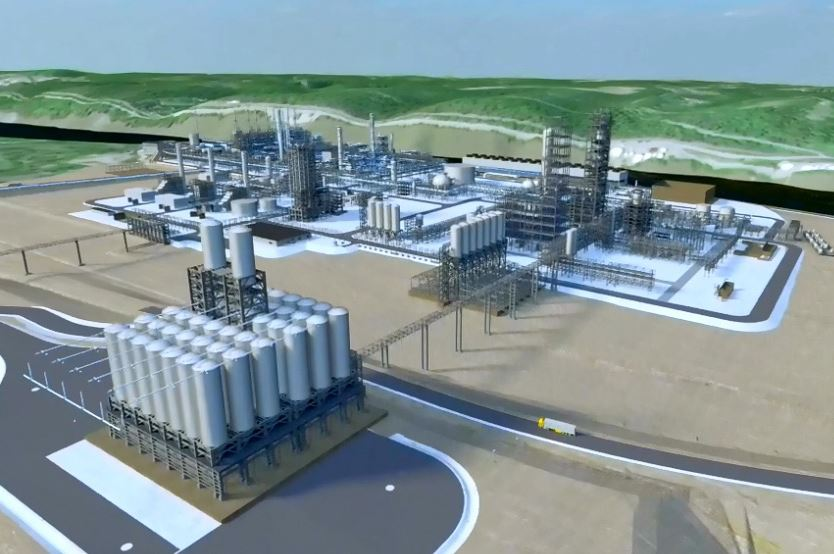 ShellPetroChemPenn An artist's rendering of the proposed ethane cracker plant.