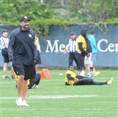 Steelers offensive coordinator Todd Haley once again must adjust game planning because of missing frontline players.