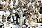 Matt Freed/Post-Gazette The Penguins take a team photo after winning the Stanley Cup in San Jose.