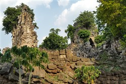 This undated photo shows the Angkor-period temple of Banteay Top, within the Banteay Chhmar acquisition block, in Cambodia.
