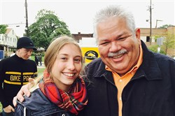 WQED-TV's Rick Sebak with bake-off contestant Alyse Horn  at last year's Next 3 Days Festival in Troy Hill.