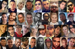 This combination of photos shows some of the dozens killed in Sunday's shooting in Orlando, Fla.