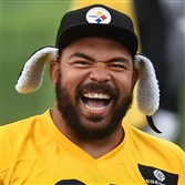 Cam Heyward at Steelers minicamp earlier this month.