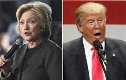 Democratic presidential candidate Hilllary Clinton and GOP presidential candidate Donald Trump.