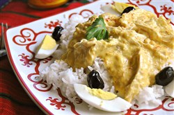 Aji de Gallina (Chicken Chile).