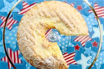 Oorange chiffon cake is perfect for a Fourth of July picnic.