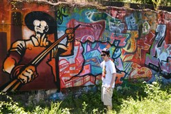 Shane Pilster, graffiti artist, graphic designer and urban arts coordinator for the Rivers of Steel National Heritage Area.