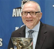 Jim Rutherford won general manager of the year Wednesday in Las Vegas.