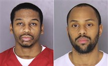 Robert Thomas, left, and Cheron Shelton, right, suspects in the shooting deaths of five adults and one unborn child in Wilkinsburg.