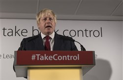Boris Johnson, a member of Parliament and former Mayor of London, speaks at a news conference the day after Britain voted to break out of the European Union.