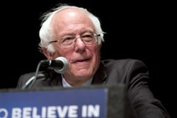"Democratic presidential candidate Sen. Bernie Sanders, I-Vt., delivers his ""Where We Go From Here"" speech on Friday."