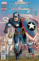 "The cover of Marvel's first issue of ""Captain America: Steve Rogers,"" revealing the most famous patriot superhero as an agent of the Nazi organization Hydra."
