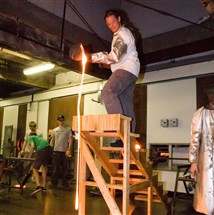 Hot glass stunts will be part of the 15th anniversary celebration at the Pittsburgh Glass Center.