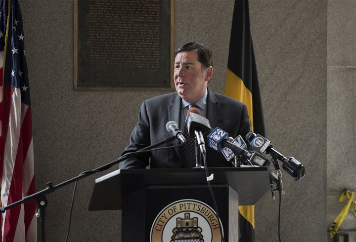 20160629hmnGunviolencepresser-4 Mayor Bill Peduto plans to introduce legislation before City Council today to sell the 12 parcels — from the former pound to the long-vacant Hazelwood Library — to the Pittsburgh Urban Redevelopment Authority for $1 each.