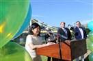 Vivien Li, president and CEO of Riverlife, talks about the next phase of improvements at Allegheny Landing during a news conference Thursday on the North Shore. Allegheny Landing is the small park on the Allegheny River bank between the Roberto Clemente and Andy Warhol bridges.
