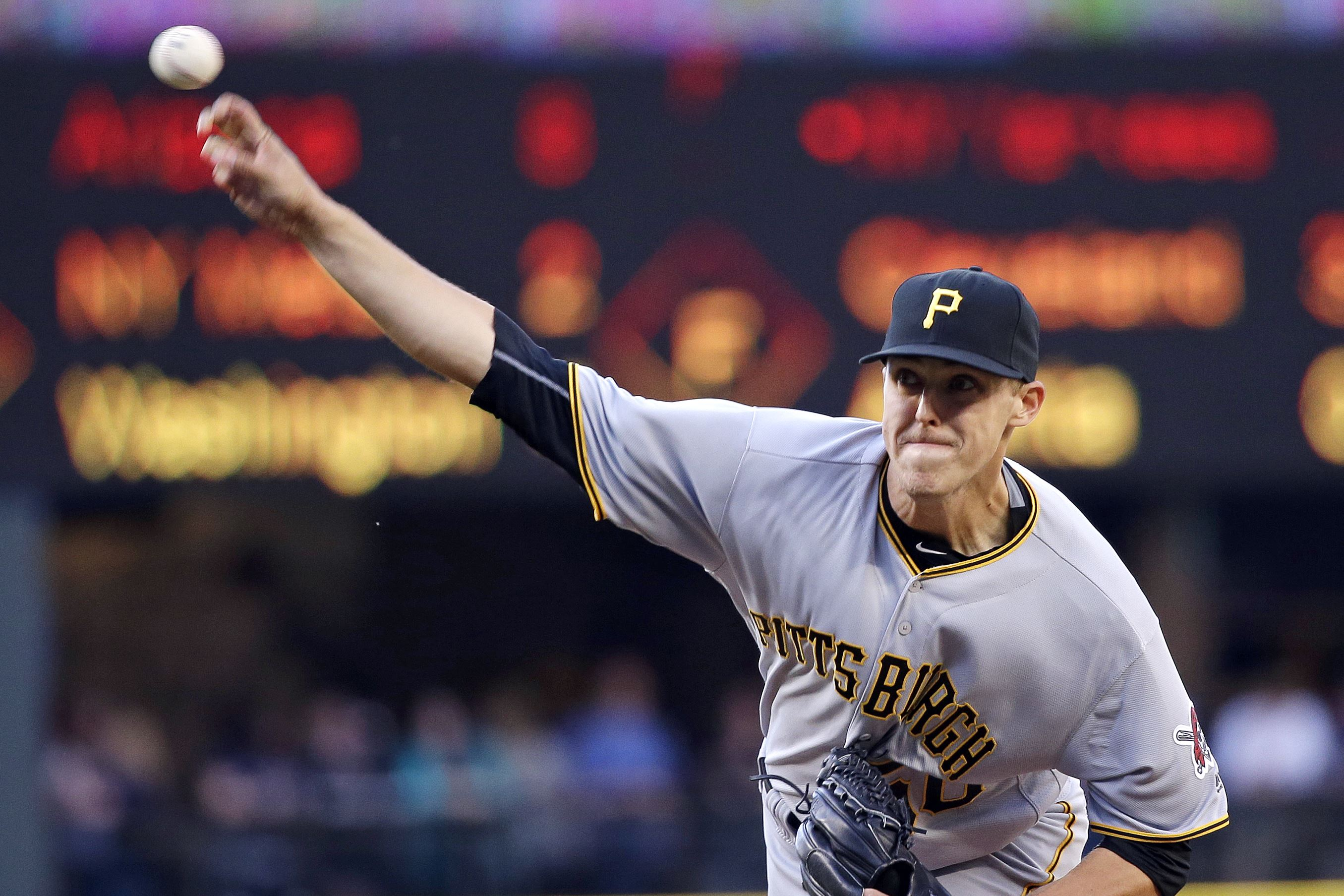 Pirates RHP Taillon hit in head by liner but stays in game
