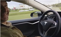 Joshua Brown in a video he produced about the self-driving Tesla vehicle last year.