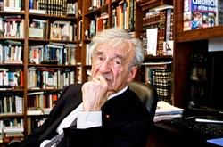 Elie Wiesel is photographed in his office in New York in 2012.
