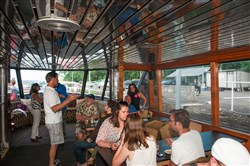 Attack Theatre held its annual boat party near its studio in the Strip District.