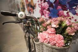 "Ai Weiwei's ""With Flowers,"" part of the exhibit ""Andy Warhol/Ai Weiwei"" at The Andy Warhol Museum on the North Side."