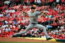 Tyler Glasnow delivers against the St. Louis Cardinals in his major league debut July 7 at Busch Stadium in St. Louis.