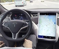 A Model S Tesla in Autopilot mode. The nonfatal crash on the Pennsylvania Turnpike occurred last Friday.